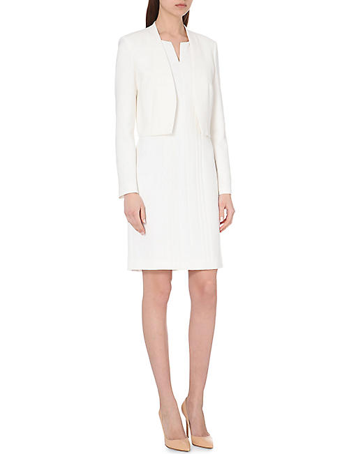 HUGO BOSS Fitted stretch-crepe dress