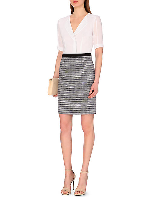 HUGO BOSS Dalemi crepe dress