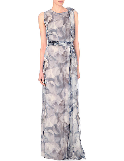 HUGO BOSS Floral print maxi dress