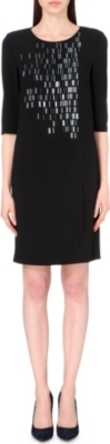 HUGO BOSS Dayleaf embellished crepe dress