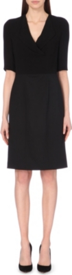 HUGO BOSS Denudi stretch-wool dress