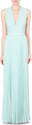 HUGO BOSS Deplisa chiffon maxi dress