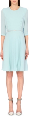 HUGO BOSS Deplisuna pleated crepe dress