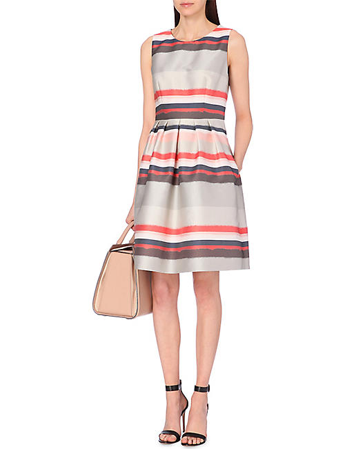HUGO BOSS Diljana striped woven dress