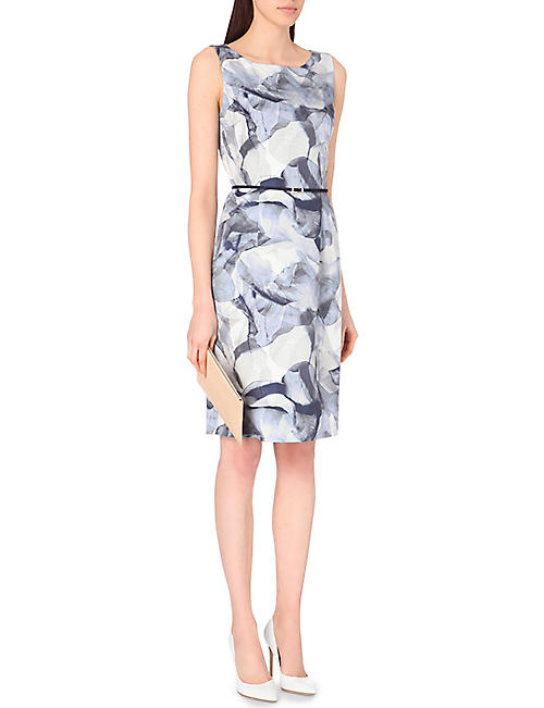 HUGO BOSS Floral-print stretch-cotton dress