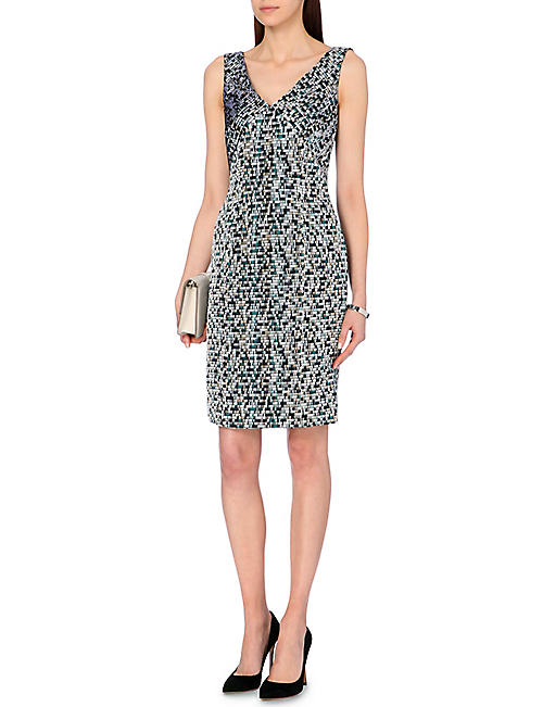 HUGO BOSS Disptripy jacquard-panel dress
