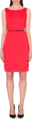 HUGO BOSS Sleeveless stretch-cotton dress