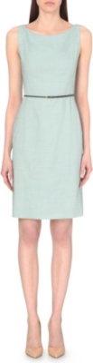 HUGO BOSS Stretch wool scoop neck dress