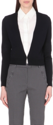 HUGO BOSS V-neck wool shrug