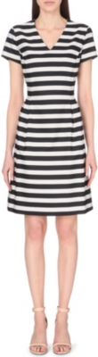 HUGO BOSS Striped panel satin dress