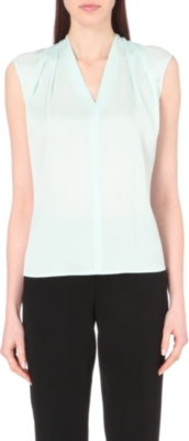 HUGO BOSS V-neck silk top