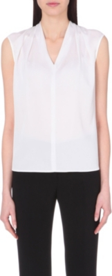 HUGO BOSS Insina v-neck silk top