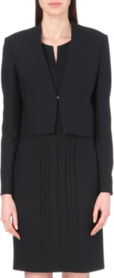 HUGO BOSS Jianila cropped crepe jacket