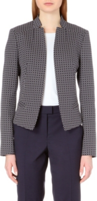 HUGO BOSS Cotton-blend checked jacket
