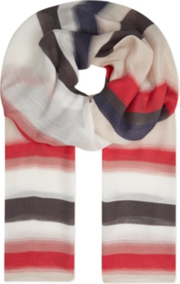 HUGO BOSS Lischa striped scarf