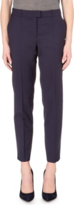 HUGO BOSS Stretch-wool birdseye trousers