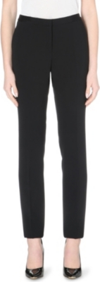 HUGO BOSS Crepe tapered trousers