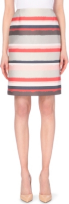 HUGO BOSS Vistripy woven pencil skirt