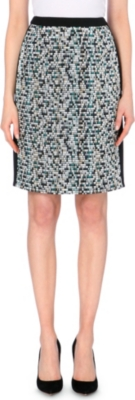 HUGO BOSS Votina jacquard pencil skirt