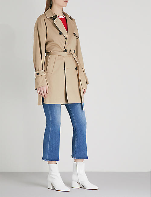 5CM Belted double-breasted cotton trench coat