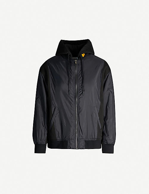 FIVECM Zip-through shell and cotton-blend jacket