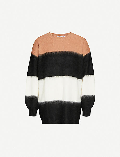 FIVECM Striped relaxed-fit knitted jumper
