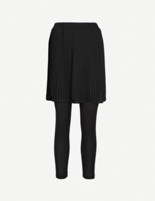 5CM Pleated jersey skirt and leggings