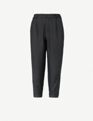 5CM Side-stripe relaxed-fit crepe trousers