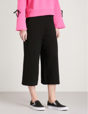 5CM Wide-leg knitted stretch-cotton trousers