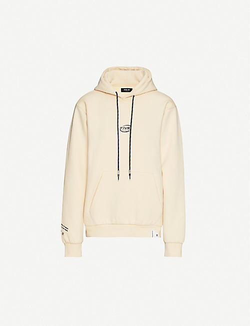 FIVECM Branded relaxed-fit jersey hoody