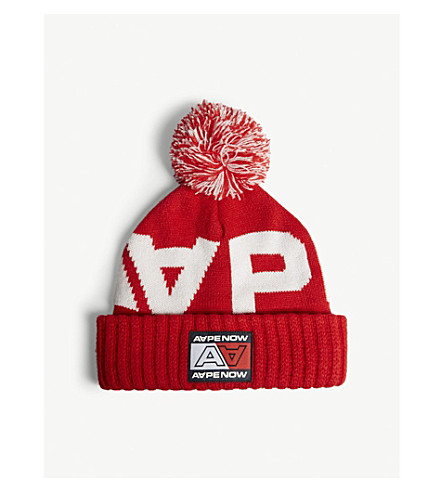 7559dd0055a AAPE - Logo knitted hat