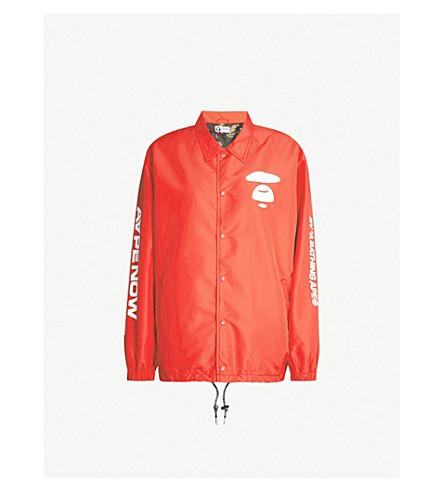 AAPE Logo-print shell jacket (Red 66592e5ecb94