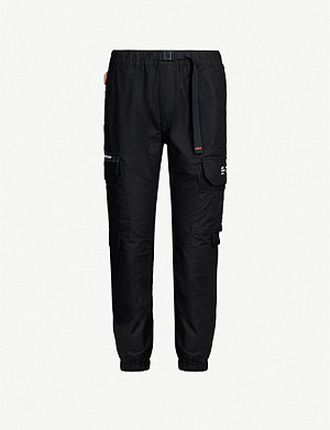 AAPE Mid-rise tapered woven cargo trousers