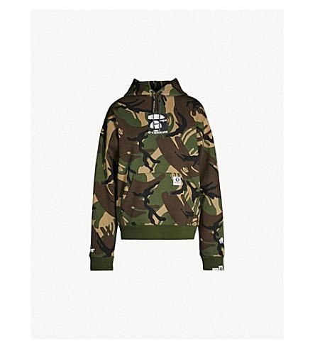 AAPE Camouflage-print cotton-blend hoody (Green 24d88e0d5541