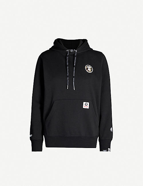 AAPE Logo-embroidered cotton-jersey hoody