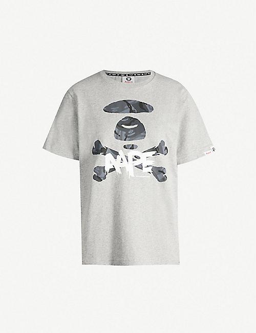 AAPE Skull-logo cotton-jersey T-shirt 4a9d09ff3