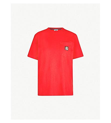 AAPE Ape-logo cotton-jersey pocket T-shirt (Red 9918d70a9e1a