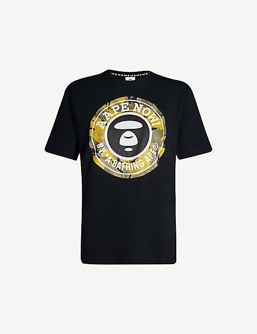 AAPE Aape Now logo-print cotton-jersey T-shirt 01bae58462d1