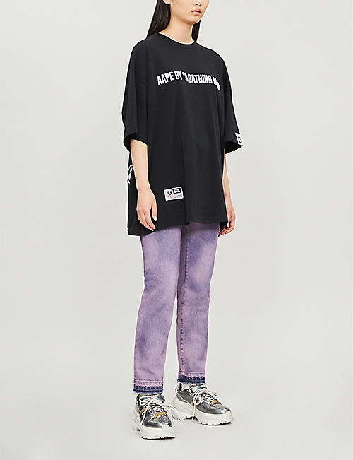 AAPE Branded oversized cotton-jersey T-shirt