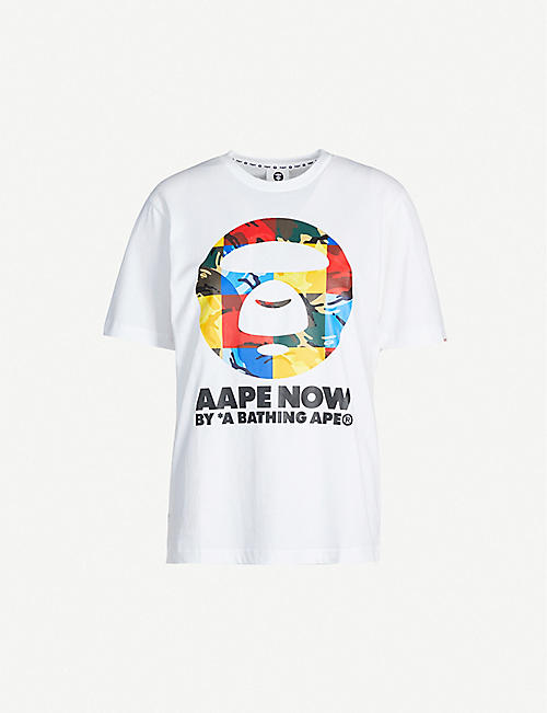 AAPE Graphic-print cotton-jersey T-shirt
