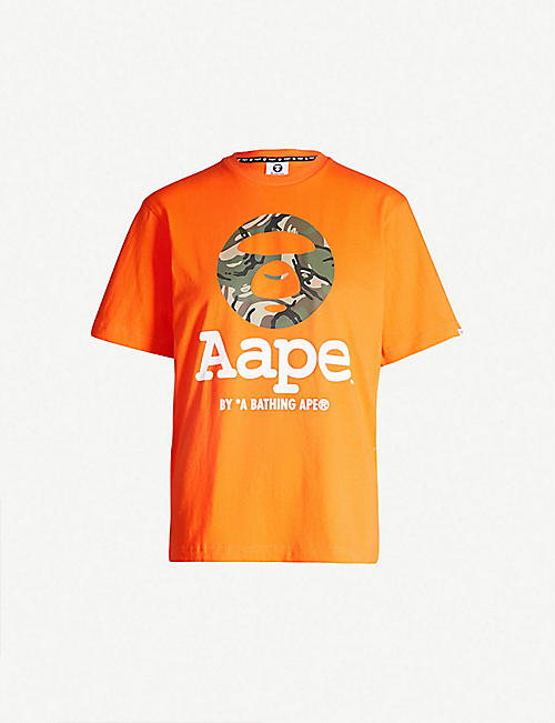 4c9865378 AAPE Logo-print cotton-jersey T-shirt