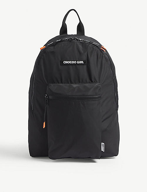 CHOCOOLATE Logo-applique nylon backpack