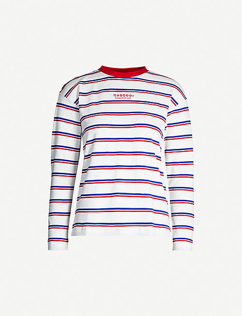 CHOCOOLATE Striped cotton T-shirt