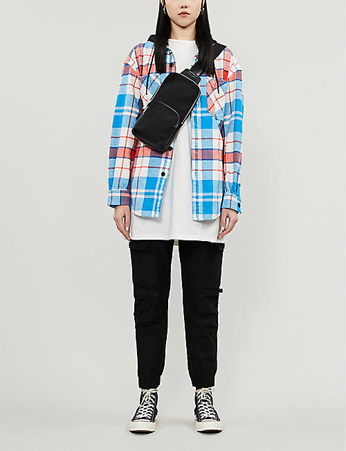 CHOCOOLATE Check-print oversized flannel jacket