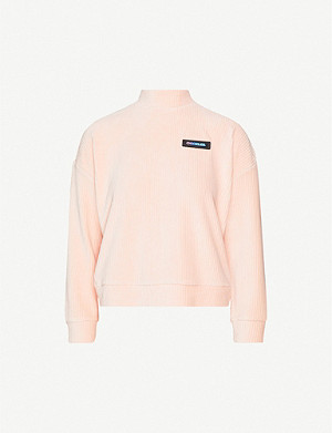 CHOCOOLATE High-neck ribbed cotton-blend sweatshirt