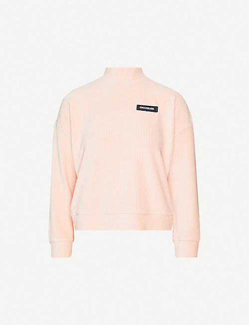 CHOCOOLATE: High-neck ribbed cotton-blend sweatshirt