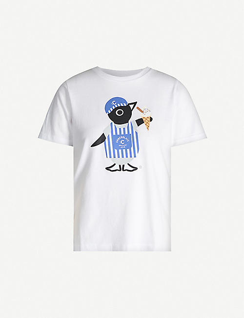CHOCOOLATE Graphic-print cotton-jersey T-shirt