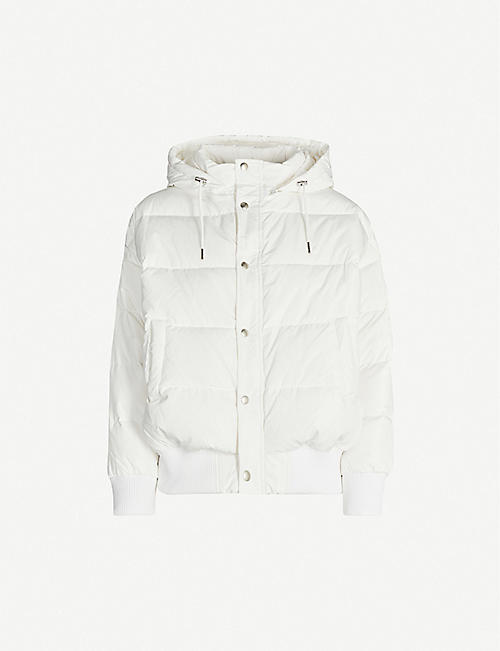 B+AB Hooded shell-down jacket