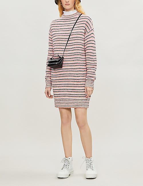 B+AB Striped knitted dress