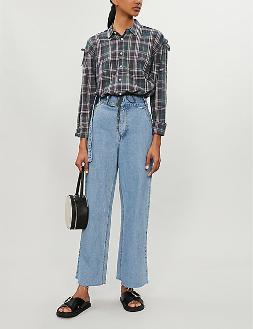 B+AB Cropped high-rise wide-leg jeans